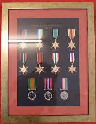 WW2 AUSTRALIAN SERVICE MEDALS 1939 45 SET REPLICA IN DISPLAY FRAME
