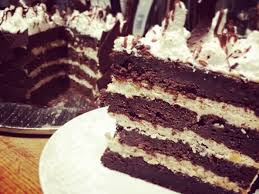 Cover The Cake Top And Sides With Rest Of Hazelnut Butter Frosting Decorate As Your Heart Desires