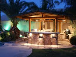 Portable Patio Bar Ideas by Palm Trees Beuatifying Backyard Bars Designs Equipped With Simple