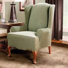 Sure Fit Striped Wingback Chair Slipcover | Products ...