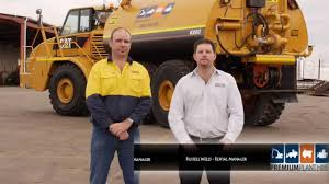 CAT 740 Water Truck - How To Load On A Float - Service Truck For ...