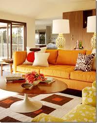 Orange Living Room Home Adorable Orange Living Room Design Home