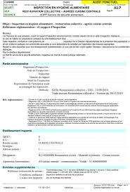 hygi鈩e alimentaire en cuisine annexe xxxix inspection en hygiène alimentaire restauration