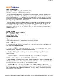 Fresh Key Skills Cv Examples Baskanai Resume And Abilities Of Skill Ski Large Size