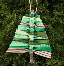 Scrap Ribbon Tree DIY Ornament