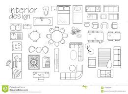 100 Home Design Project Interior Floor Plan Symbols Top View Furniture Cad