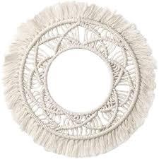 makramee wandspiegel makramee handgefertigt zum aufhängen boho rand dekorativ für wohnzimmer schlafzimmer babyzimmer heimdekoration