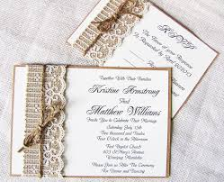 Handmade Rustic Lace And Burlap Wedding Invitation Suite 10000 Via Etsy