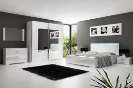 images de chambre chambre a coucher adulte blanc laque avec eclairage led 30 jpg 1200