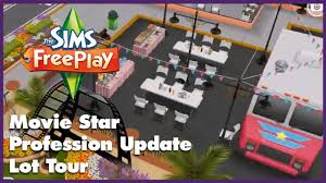 Sims Freeplay Second Floor by The Sims Freeplay Movie Star Profession Lot Tour Youtube