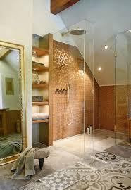 bodenebener duschbereich mediterran badezimmer