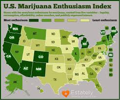 states pot is these are the most marijuana enthused states in america estately