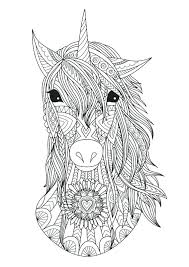 The Last Unicorn Coloring Pages Head Printable