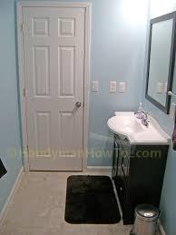 Basement Bathroom Ejector Pump Floor how to finish a basement bathroom the complete series