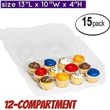 Cupcake Boxes Containers 12 Compartment Container Pack