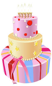 Pink Birthday Cake Clipart ClipartXtras