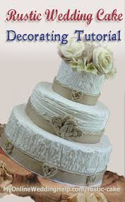 Rustic Wedding Cake Decorating Tutorial No Bag Tips Or Decorator Experience Required