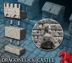 3d Dungeon Tiles Kickstarter by Must Contain Minis 3d Printed Terrain Dragonlock 3 Kickstarter
