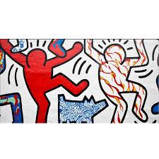 handbemalt hochwertige abstrakte keith haring original pop moderne abstrakte ölgemälde leinwand wand wohnzimmer kunstwerk kunst