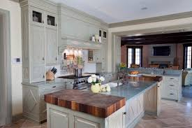 French Country Kitchen Boasts Butcher Block Countertops