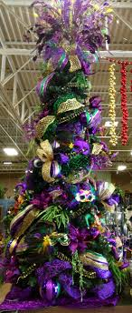 purple christmas trees mardi gras christmas tree and masking