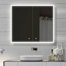 led spiegelschrank 80x70cm in weiss badezimmer spiegel