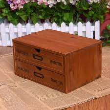 boite a tiroirs en bois boite a tiroir en bois bois vintage tiroir de rangement bloc