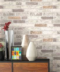 newroom vliestapete steintapete beige steintapete ziegelstein backstein mauerwerk klinker stein tapete steinoptik wohnzimmer tapete steinoptik