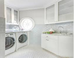 laundry blue glass laundry room backsplash tiles pictures