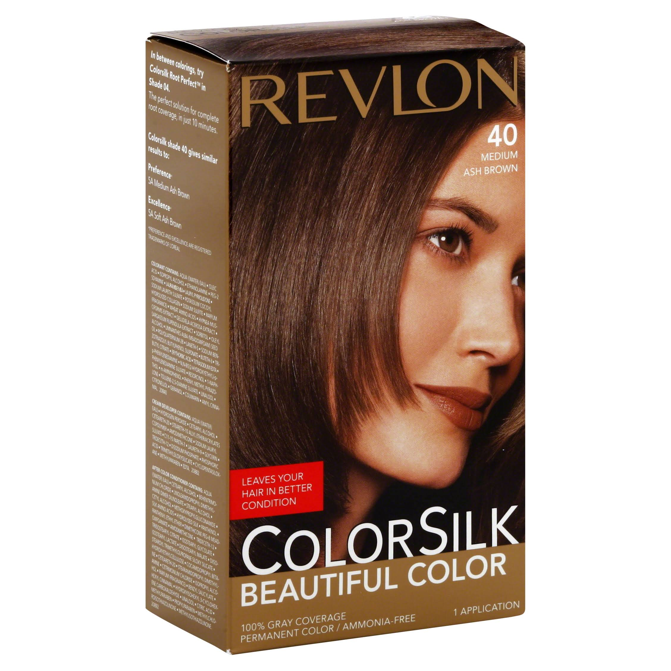 Revlon Colorsilk Hair Color - 40 Medium Ash Brown, 1 Applicaton