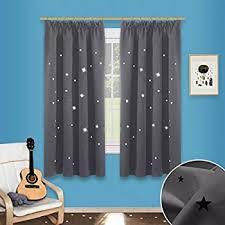 rideau occultant chambre bébé rideau occultant gris étoilé pour chambre enfant amazon fr cuisine