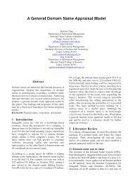 PDF Domain Name Valuation Internet Traffic