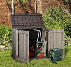 keter store it out midi outdoor plastic garden storage shed 130 x