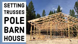 100 House Trusses Setting On The Pole Barn EP 6