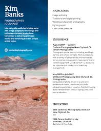 Photographer Resume Template - Venngage Leading Professional Senior Photographer Cover Letter 10 Freelance Otographer Resume Lyceestlouis Resume Example And Guide For 2019 Examples Free Graphy Accounting Sample Full Writing 20 Examples Samples Template Download Psd Freelance New 8 Beginner 15 Design Tips Templates Venngage