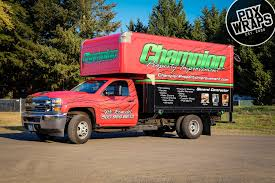 100 Custom Truck Shops Champion Property Improvement Box PDX Wraps