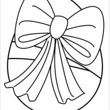 Egg With Ribbon Coloring Page