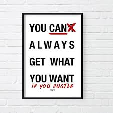 You CAN Always Get What Want Print Motivational Poster Rolling Stones Quote Wall Decor Gift For Boss Cool Posters