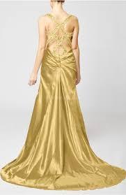 venetian gold evening dress sheath sleeveless backless