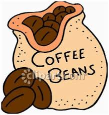 Bean Clipart Coffee Sack Black And White Stock