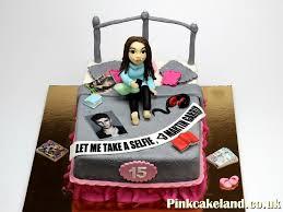Awesome Ideas 15th Birthday Cake And Modern For Girl Novelt Ycakes