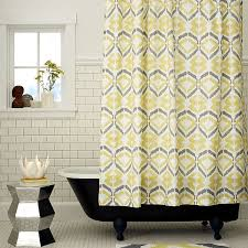 captivating shower curtains yellow and gray and gray yellow and