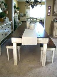 Diy Kitchen Table Bench Homemade Ideas Dining Room Extraordinary Decor