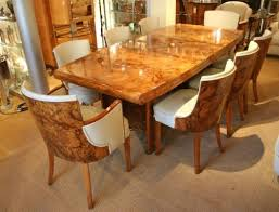 A Grand Example Of An Art Deco Dining Table And Matching Chairs From The 1930s
