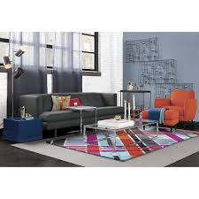 Cb2 Movie Sleeper Sofa by Cb2 Avec Carbon Sofa Smart Glass Top Coffee Table Modern Plaid