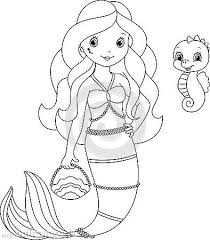 How To Draw A Cute Butterfly Coloring Pages For Kids Mermaid Page Her Pet