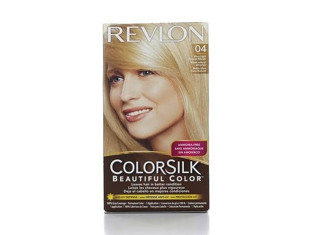 Revlon Colorsilk Beautiful Color Permanent Haircolor - 04 Ultra Light Natural Blonde