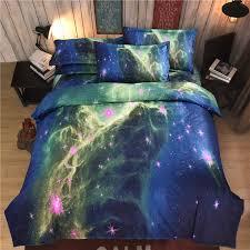 Hot sale Set 3D Planet Star Duvet Cover Set Flat Sheet And Pillow
