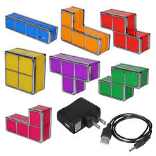 Tetris Stackable Led Desk Lamp India by Tetris Diy Constructible Retro Game Style Stackable Led Desk Lamp