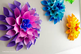 Paper Crafts Flower Making Craftaholics Anonymous Rainbow Dahlia Flowers